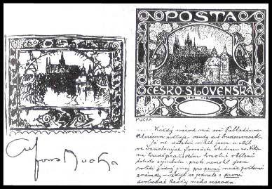 Alfons Mucha / poštovní známka