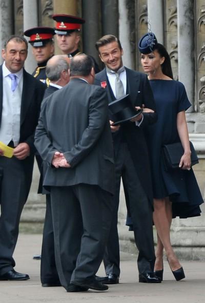 Na svatbu dorazil David Beckham s manželkou