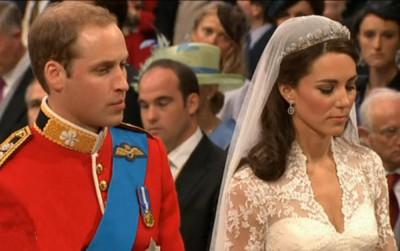 Princ William a Catherine před oltářem